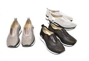 kožená a atestovaná obuv Stylové dámské mokasíny Marcella 302, černé