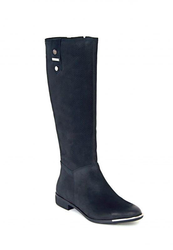"""kožená a atestovaná obuv Zimní kozačky CheBello B.1787 s perforací ,, dírkování ♦️ """", černá"""