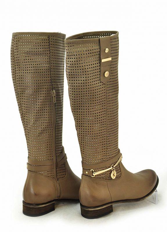 bad6289b5 kožená a atestovaná obuv Krásné letní děrované kožené kozačky KATI