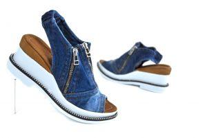 """Model pro letošní léto Jeans kotníčkové sandály """"STYL BLUEMOON"""" 9435"""