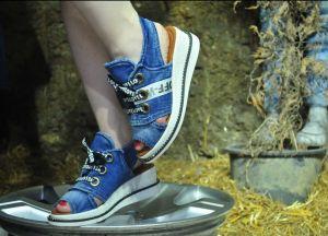 """kožená a atestovaná obuv Model pro letošní léto Jeans kotníčkové sandály """"STYL BLUEMOON"""" 9434 Starbluemoon"""