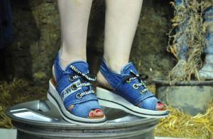 """Model pro letošní léto Jeans kotníčkové sandály """"STYL BLUEMOON"""" 9434"""