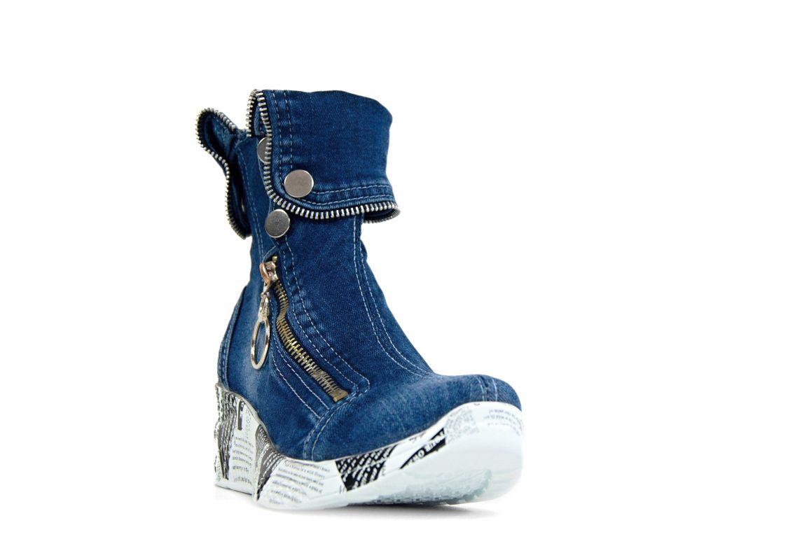 """kožená a atestovaná obuv Originální Jeans tenisky """"STAR BLUEMOON"""" s bílou nápaditou podrážkou Starbluemoon"""