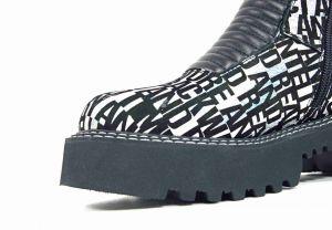 """kožená a atestovaná obuv Originální kozačky s potiskem na platformě """"UNICA """" B1477 Marcella"""