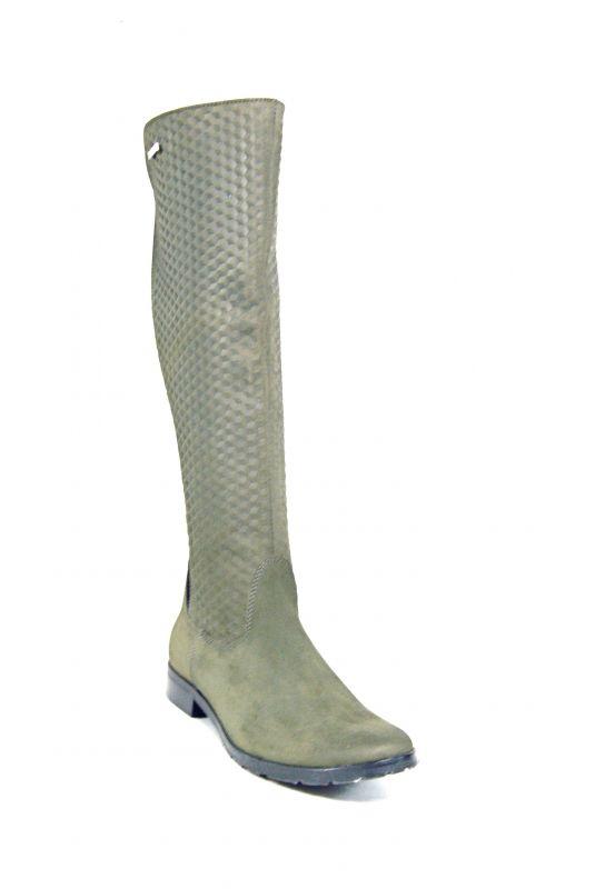 """kožená a atestovaná obuv Zimní kozačky """"1797"""" broušená kůže - olivová AlexTom"""
