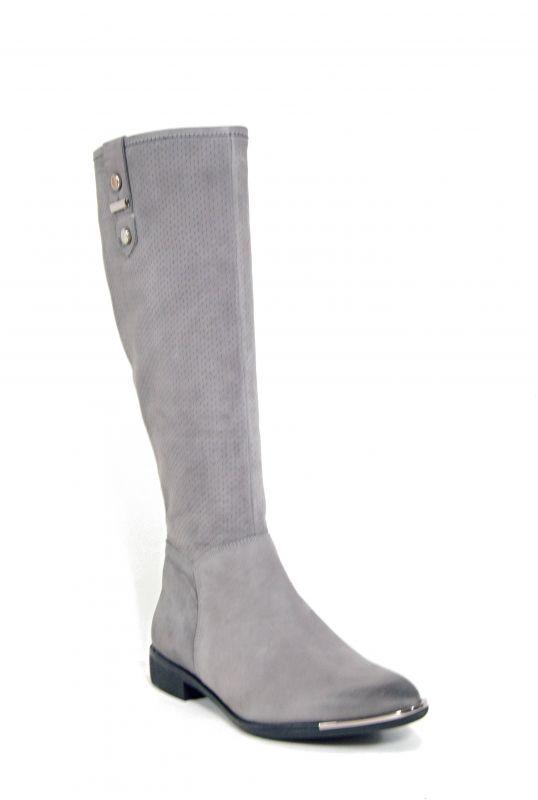 """kožená a atestovaná obuv Zimní kozačky CheBello B.1787 s perforací ,, dírkování ♦️ """", šedá"""