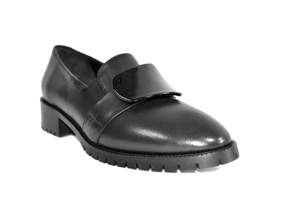 """kožená a atestovaná obuv Dámské luxusní kožené mokasíny """"Donna Style"""" 702, černé"""