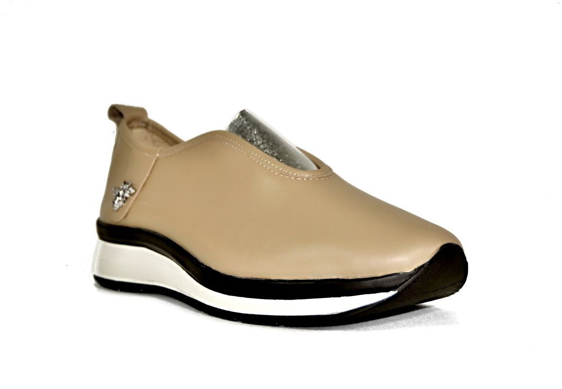 """kožená a atestovaná obuv Dámské luxusní kožené mokasíny """"Marcella Shoes"""", 402 béžové"""