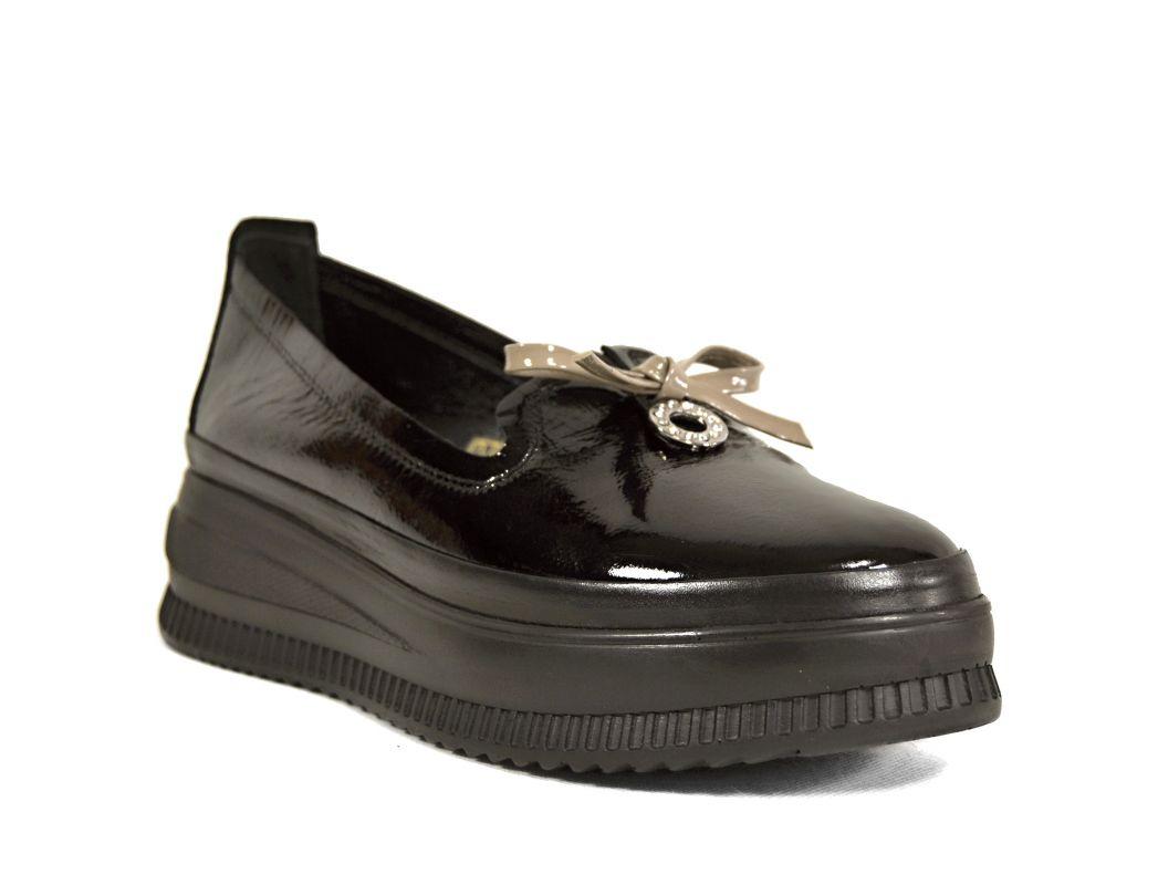 """kožená a atestovaná obuv Dámské luxusní kožené mokasíny """"MarcellaShoes"""" 510-1, černé"""