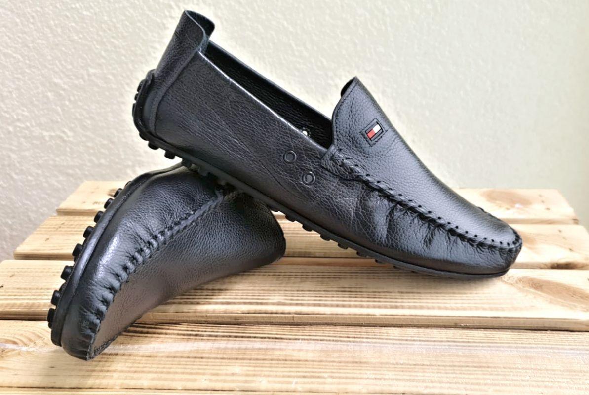 """kožená a atestovaná obuv Luxusní pánské mokasíny """"Bobert shoes"""", černé, 1590"""