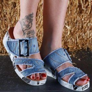 Riflové páskové sandálky 921 na platformě | 36, 37, 38, 39, 40