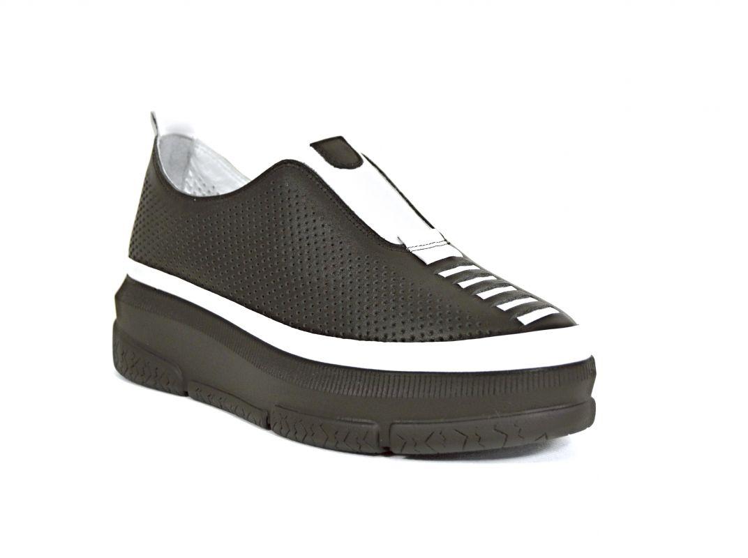 kožená a atestovaná obuv Stylové dámské mokasíny Marcella 513 , černé