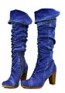 kožená a atestovaná obuv Pružné riflové kozačky 4023 se širokým lemem Starbluemoon
