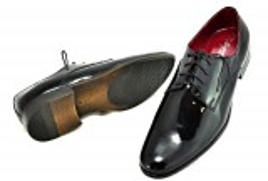 kožená a atestovaná obuv Luxusní pánské botky z lesklé kůže Collezione