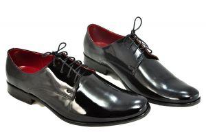 Luxusní pánské botky z lesklé kůže