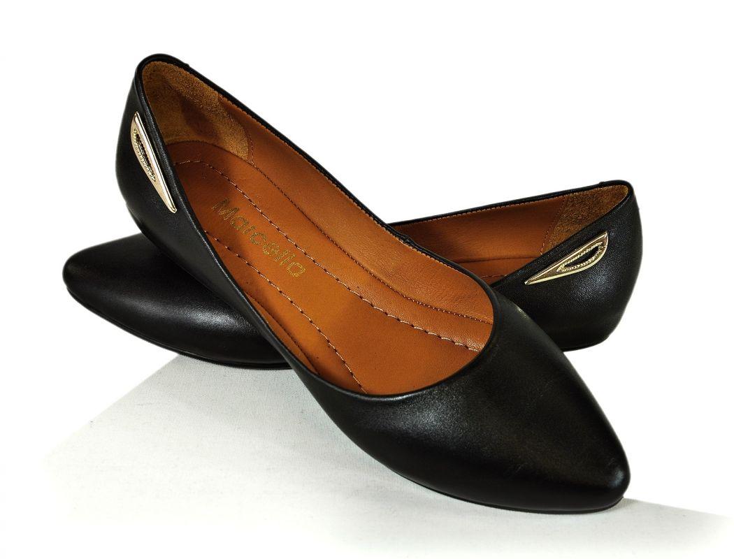 a00cef0a6abe kožená a atestovaná obuv Kožené baleríny 041 černé Marcella