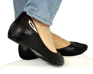 kožená a atestovaná obuv Kožené baleríny 041 černé Marcella