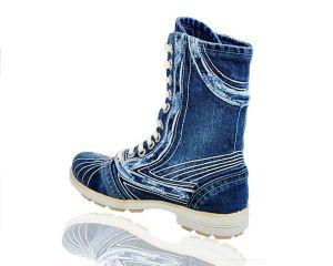 kožená a atestovaná obuv Riflové kotníkové boty 4201 na šněrování Starbluemoon