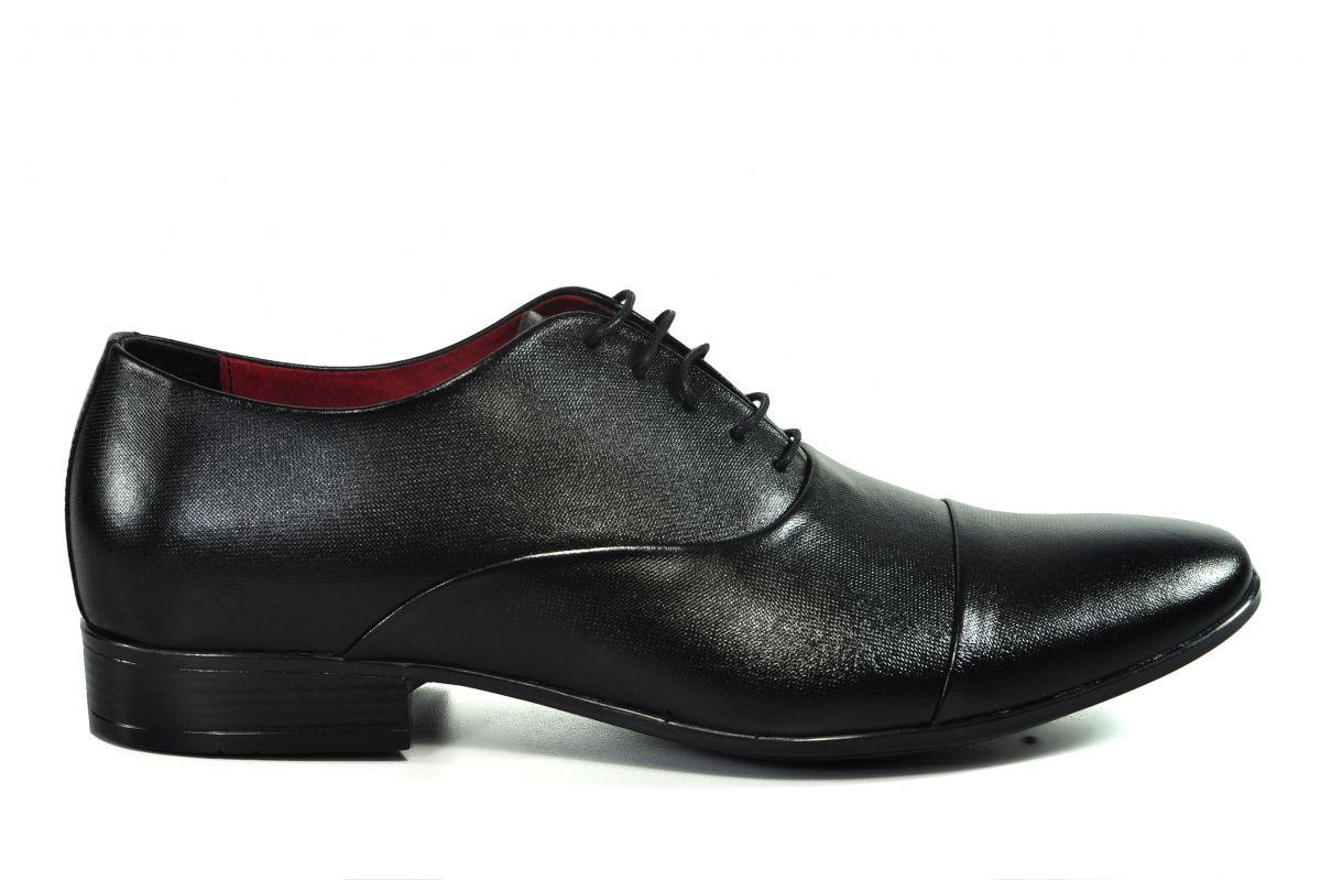 kožená a atestovaná obuv Kožená pánská obuv Lavaggio 1601, černá
