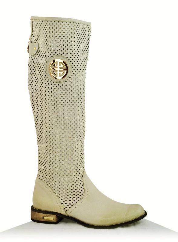 3dfea021881 kožená a atestovaná obuv Prodyšné kozačky K-91 s perforací ...
