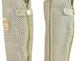 """kožená a atestovaná obuv Prodyšné kozačky K-91 s perforací ,, dírkování ○ a ◊ """" s dvojkombinací zipu, Roberto"""