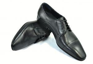 kožená a atestovaná obuv Elegantní panské boty Savana 3268, matná kůže Tetri