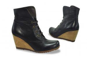 kožená a atestovaná obuv Zimní kotníkové boty na klínu 1025 Fabriano