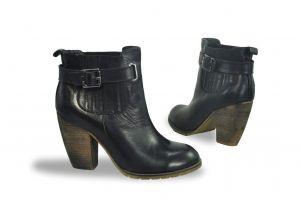 kožená a atestovaná obuv Kotníkové botky s přezkou 1244 Fabriano