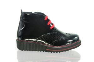 Kotníkové lesklé botky 2320,platforma