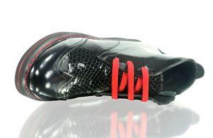 kožená a atestovaná obuv Kotníkové lesklé botky 2320,platforma Donna Style