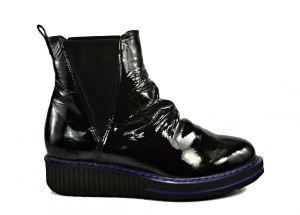 Zimní originální kožené kotníkové boty 2321 , blackblue