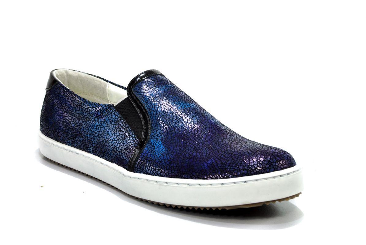 kožená a atestovaná obuv Kožené mokasíny 2443 s patinou J.Wolski