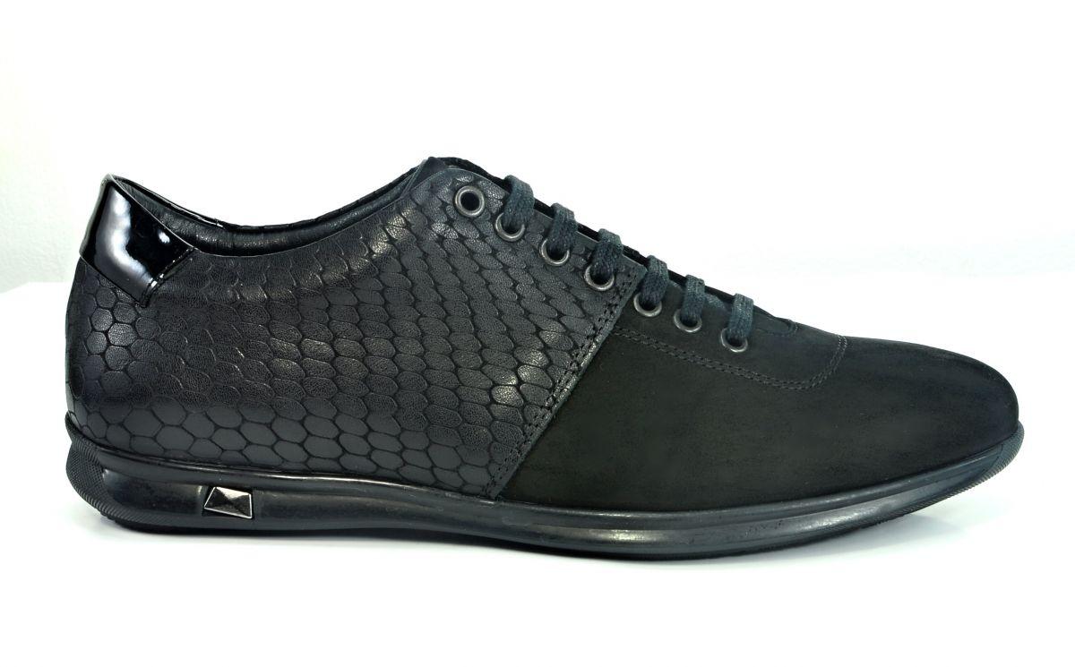 kožená a atestovaná obuv Kožené pánské tenisky 101 Gartiero