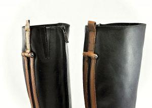 kožená a atestovaná obuv Luxusní dámské zimní kozačky Carinii B.1460, černá