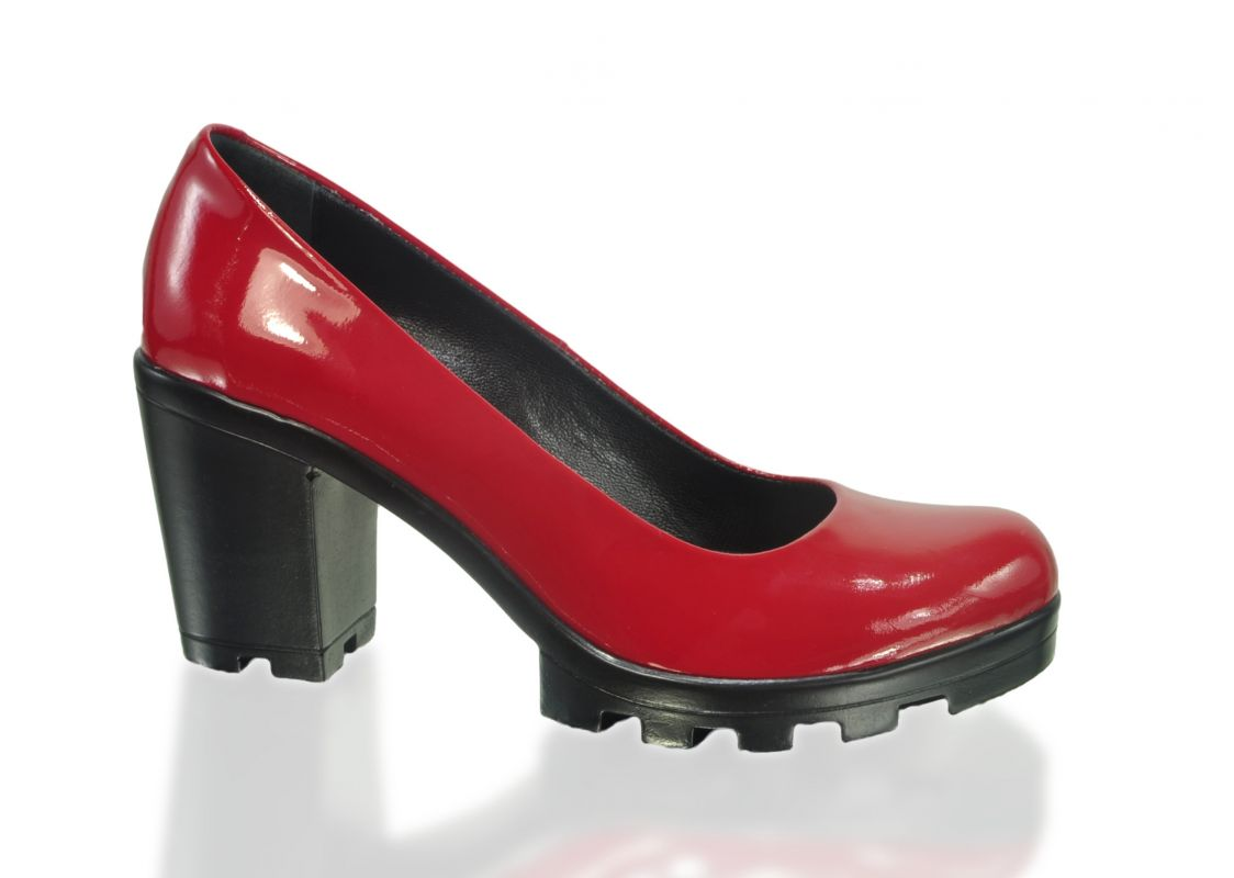 kožená a atestovaná obuv Luxusní lakované lodičky 609 Marcella
