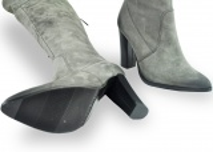kožená a atestovaná obuv Luxusní semišové kozačky Carinii B.3020, nezateplené - 37