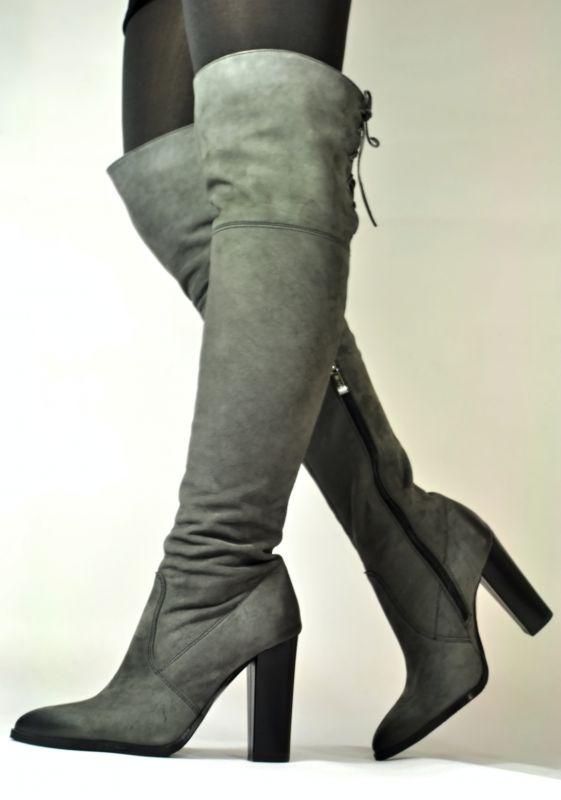 kožená a atestovaná obuv Luxusní semišové kozačky Carinii B.3020 ... 2895677fa6