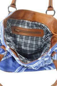 """kožená a atestovaná obuv Kabelka Jeans 8022 šití ,, rifle """" s delším uchem Facebag"""