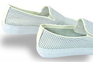kožená a atestovaná obuv Panské kožené mokasíny Thunderhead 4406, bílé