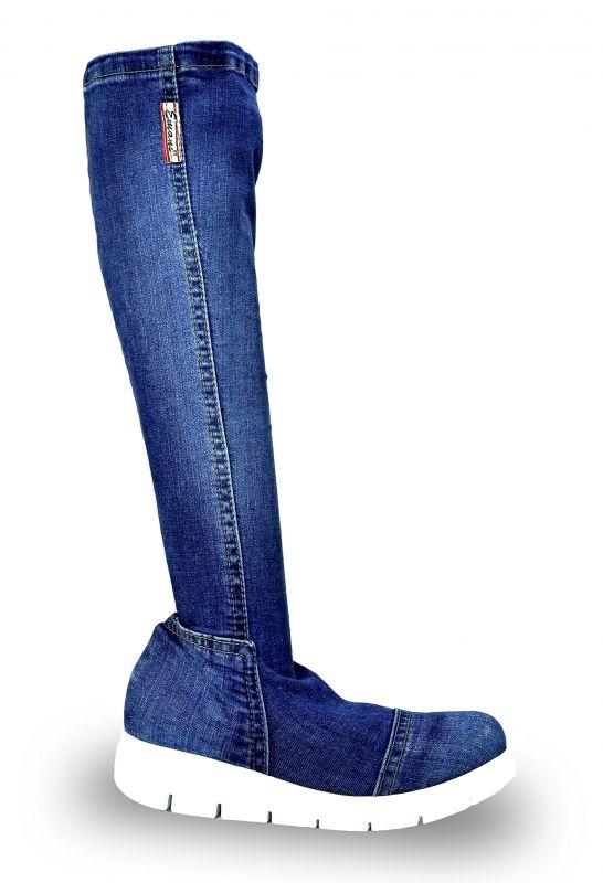 kožená a atestovaná obuv Riflové kozačky Emani 058.09 na platformě