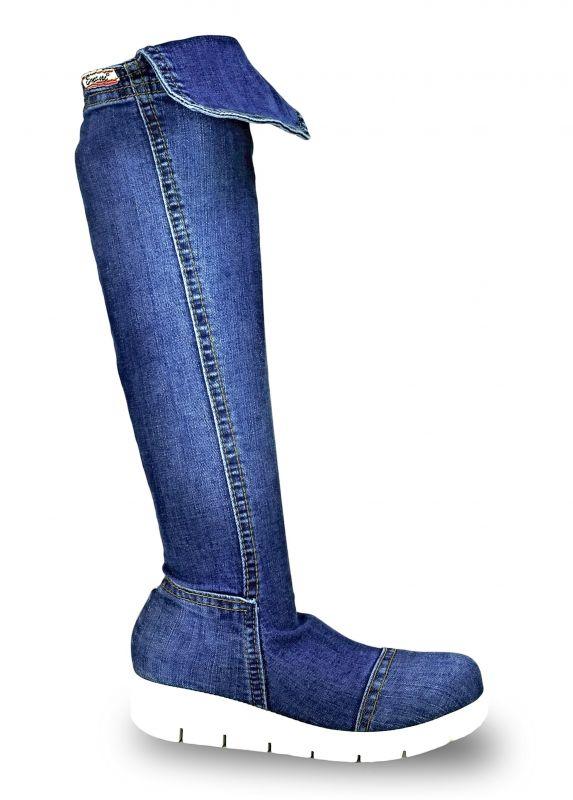 kožená a atestovaná obuv Riflové kozačky Emani 059.09 na platformě