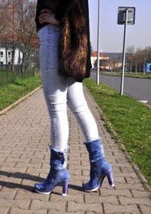 kožená a atestovaná obuv Senzační riflové kozačky kod 4038 Starbluemoon